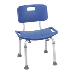 Bathroom Safety Shower Tub Bench Chair with back by Drive Medical