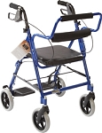 Transport Rollator, Blue by Roscoe