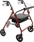 Bariatric Rollator, Burgundy by Roscoe