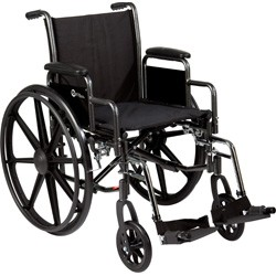 "K3 16"" x 16"" Wheelchair with removable desk-length arms by Roscoe"