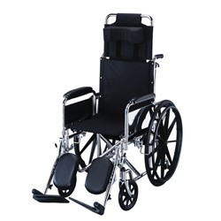 "Reclining Wheelchair 16"", with elevating leg rests by Roscoe"