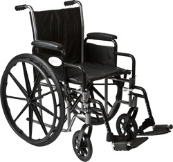 "K2 16"" x 16"" Wheelchair with removable desk-length arms by Roscoe"